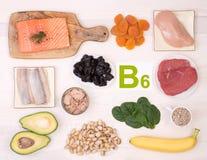Voedsel die Vitamine B6 bevatten royalty-vrije stock foto's