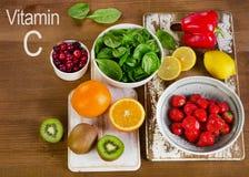 Voedsel die vitamine A bevatten royalty-vrije stock afbeeldingen