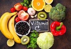 Voedsel die vitamine C bevatten Het gezonde Eten royalty-vrije stock fotografie