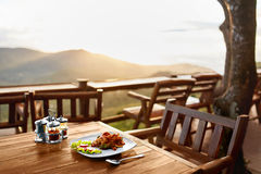 Voedsel Diner in Thais Restaurant Gezonde Maaltijd Reis naar Thailan Royalty-vrije Stock Afbeelding