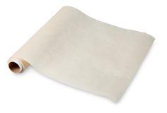 Voedsel in een verdraaid broodje van perkament op de koker, het bakken document. royalty-vrije stock afbeeldingen