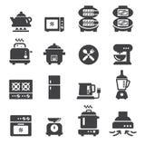 Voedsel elektrisch pictogram Royalty-vrije Stock Afbeeldingen