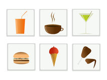 Voedsel en drank royalty-vrije illustratie