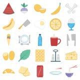 Voedsel en Drank Geïsoleerde editable Vectorpictogrammen stock illustratie