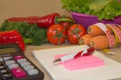 Voedsel en drank het ontbijtconcept van het gewichtsverlies met meetlint, Weegschaal Royalty-vrije Stock Fotografie