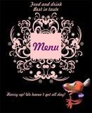 Voedsel en drank met een muis Stock Afbeelding