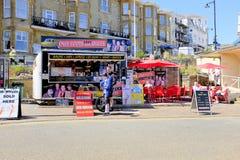 Voedsel en drank, Sandown, het Eiland Wight, het UK royalty-vrije stock afbeeldingen