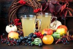 Voedsel en drank, seizoengebonden de vakantieconcept van de de herfstdankzegging stock afbeelding