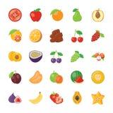 Voedsel en Ingrediëntenpictogrammen Stock Fotografie