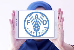 Voedsel- en landbouworganisatie, FAO-embleem royalty-vrije stock foto's