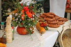 Voedsel en vruchten Royalty-vrije Stock Fotografie
