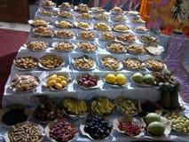 Voedsel en zoete pic royalty-vrije stock afbeeldingen