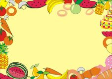 Voedsel flaer Stock Afbeeldingen