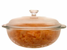 Voedsel: Gebakken Macaroni & Kaas Stock Afbeelding