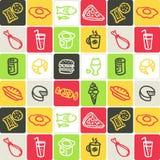 Voedsel gecontroleerd patroon Stock Afbeelding