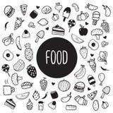 Voedsel gezond vectorontwerp stock illustratie