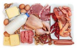 Voedsel hoog in dierlijke proteïne stock foto