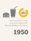 Voedsel infographic elementen royalty-vrije illustratie