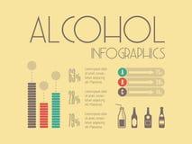 Voedsel infographic elementen stock illustratie