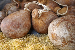 Voedsel Italiaanse caciocavallokaas Royalty-vrije Stock Foto's