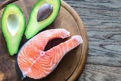 Voedsel met gezonde vetten stock afbeeldingen
