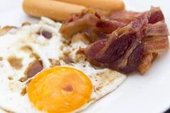 Voedsel met hoog cholesterolgehalte Stock Afbeeldingen