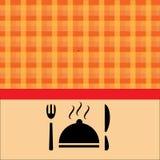 Voedsel met oranje achtergrond Royalty-vrije Stock Fotografie