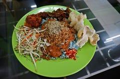 Voedsel, Nasi Kerabu Royalty-vrije Stock Foto's
