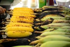 Voedsel op de grill - de Zomer het koken Stock Fotografie