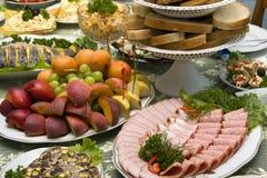 Voedsel op de lijst Royalty-vrije Stock Foto