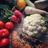 Voedsel op een lijst Royalty-vrije Stock Foto's