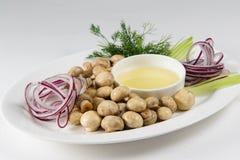 Voedsel op een plaat Stock Fotografie