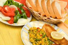Voedsel op lijst stock foto's