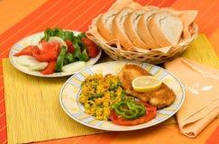 Voedsel op lijst Royalty-vrije Stock Foto's