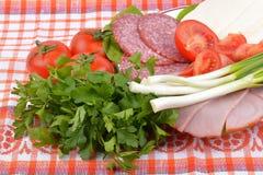 Voedsel op Roemeense traditioneel Royalty-vrije Stock Foto's