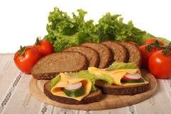 Voedsel op servet Stock Afbeelding