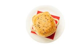 Voedsel op witte achtergrond wordt geïsoleerd die Royalty-vrije Stock Foto's