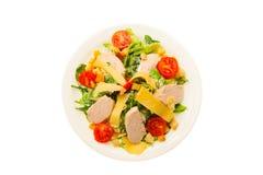 Voedsel op witte achtergrond wordt geïsoleerd die Royalty-vrije Stock Afbeelding