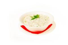 Voedsel op witte achtergrond wordt geïsoleerd die Stock Afbeelding
