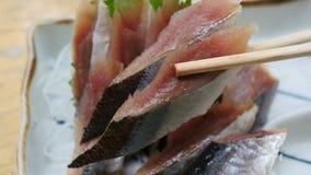 Voedsel Schotel, zeevruchten Eetstokjes die sushi nemen royalty-vrije stock afbeeldingen