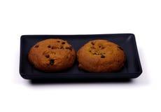 Voedsel - Twee Koekjes van de Pompoen stock foto's