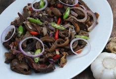 Voedsel van de Filippijnen, Kilawing Kambing (Geitenvlees in Vinaigrette) Royalty-vrije Stock Fotografie
