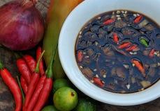 Voedsel van de Filippijnen, Sawsawan (Kruidige Onderdompelende Saus) Stock Fotografie