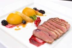 Voedsel van het restaurant royalty-vrije stock afbeeldingen