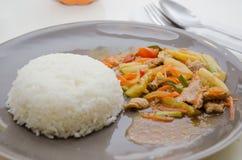 Voedsel van Priao van het stootkussen het Bleke, Thaise Royalty-vrije Stock Foto