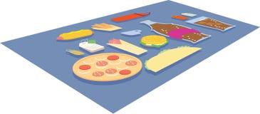 Voedsel van snel voedsel Stock Foto's