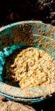 Voedsel voor kip stock afbeelding