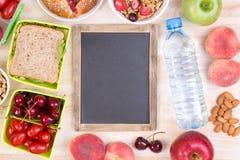 Voedsel voor lunch stock afbeeldingen