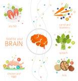 Voedsel voor uw hersenen royalty-vrije illustratie