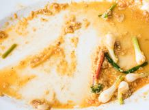 Voedselafval van de gebraden krab met gele kerrie Stock Afbeeldingen